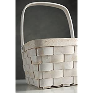 Wayhome Fair White Chipwood Basket with Swing Handle 8x6 - Excellent Home Decor - Indoor & Outdoor 22