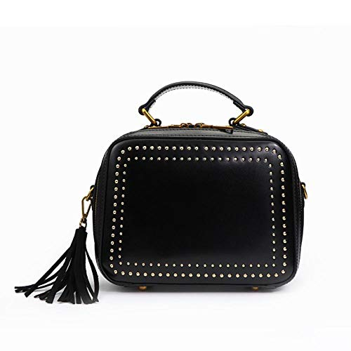 Simple de Dames à Sac Cross Rivet Tendance black Pack pour WWAVE Gland Unique Main Sac la Mode Diagonale Cuir Sacs bandoulière WIqP7Z