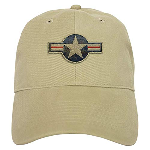 LUDEM USAF US Air Force Roundel Cap Baseball Cap with Adjustable Closure, Unique Printed Baseball Hat