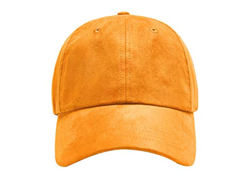 ZOWYA Classic Cotton Plain Baseball Cap-Dad Hat-Polo Cap-Casual Cap-Unisex-Adjustable Size-Unstructured-Soft Blazing Orange ()