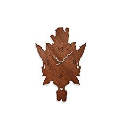 inPhoenix Forest Themed Cuckoo Clock - Bears and Wolves - Wild Life - Modern Novelty Gift - Custom Wooden Wall Clock