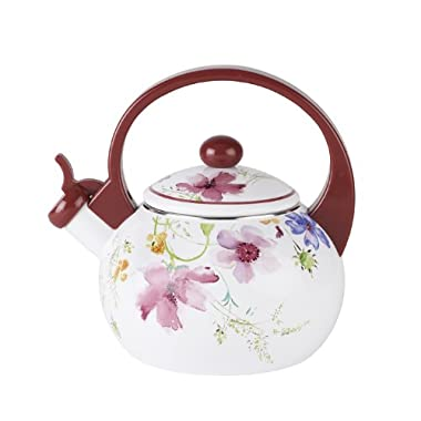 Mariefleur Kitchen Tea Kettle by Villeroy & Boch - Made From Enameled Steel -Dishwasher Safe - 67.5 Ounce capacity