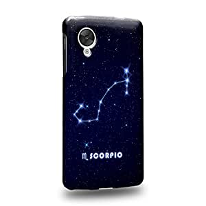 Case88 Premium DesignsThe 12 Zodiacal Constellations Scorpio zodiacal signs Protective Snap-on Hard Back Case Cover for LG Nexus 5