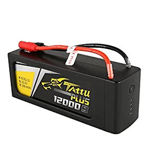 Tattu Plus LiPo Smart Battery Pack 12000mAh 22.2V 15C 6S with AS150+XT150 plug for UAV Drone Integrated with Smart BMS