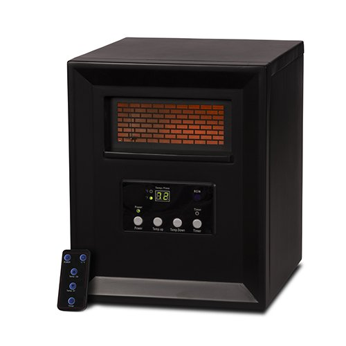 LifeSmart Large Room 6 Element Infrared Heater w/Remote (Certified Refurbished)