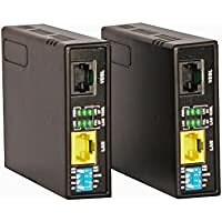 Tupavco TEX-100 Ethernet Extender Kit (Pair 2pc) Range up to 1 Mile/7000FT over Phone Copper Wire or CAT5/CAT6 Network Cable -VDSL2 Lan Booster Bridge Repeater-VDSL High Speed Broadband 100 Mbps