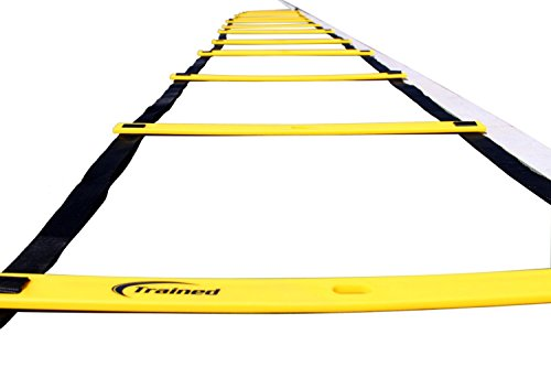 AGILITY LADDER Bundle By Trained with 6 SPORTS CONES , Agility Drills Ebook and Carry Case