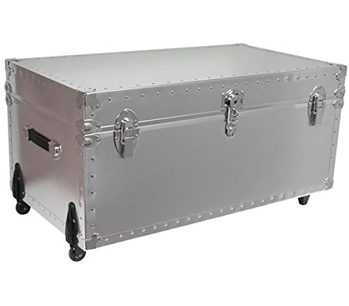 DormCo Smooth Steel Standard Size Trunk - USA Made ()