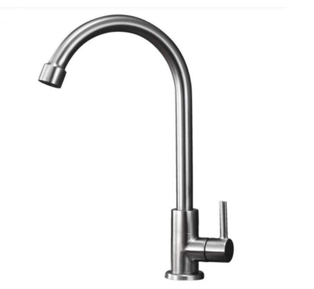 Küche Bad Wasserhahnwasserhahn Mischer-Schwenker-Hahn-Wanne 304 Edelstahl-Hahn-Küchen-Einzelner Kühlbehälter