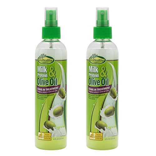 Sof N'Free Milk Protein & Olive Oil Leave-In Treatment Refreshing Spray (8 Oz) Pack Of 2 (Best Deep Conditioner For Relaxed Black Hair)