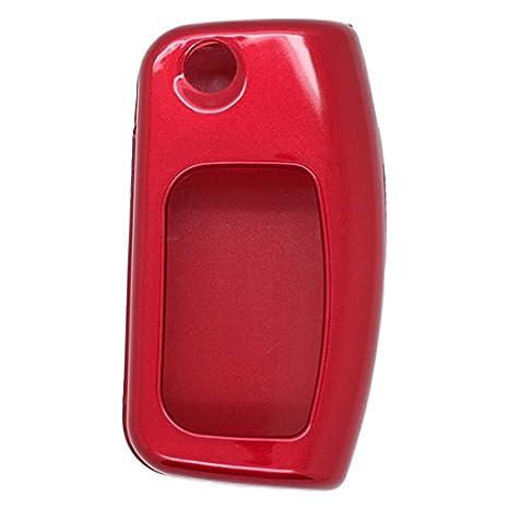 Metallic Paint-Cover guscio chiave telecomando per FORD Cover Key Classic con linguetta, colore: nero Fassport