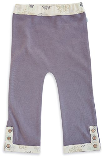 Finn + Emma Organic Cotton Pants for Baby Boy or Girl – Dark Purple, 6-9 Months by Finn + Emma