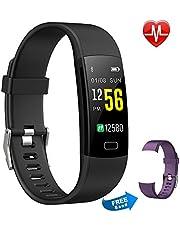 Pulsera Actividad Moson Reloj Deportivo Inteligente Pantalla Color Fitness Tracker con Monitor de Ritmo Cardíaco Las 24 Horas Impermeable IP68 Modos de Ejercicio Monitor de Sueño