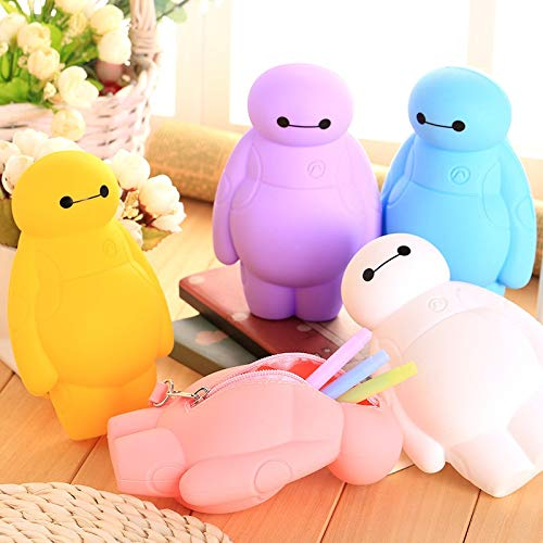 Best Quality - Pencil Cases - New Silicone Big Hero 6 Baymax Kawaii Pencil Cases Multi-Functional Stationery Pen Bags Storage Pencil Box School Supplies - by GTIN - 1 PCs