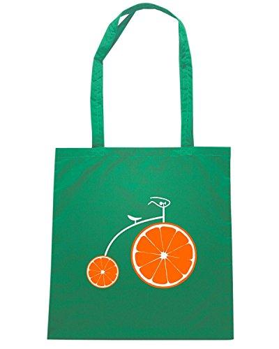 T-Shirtshock - Bolsa para la compra T0873 aperol bicycle bevande sballo Verde