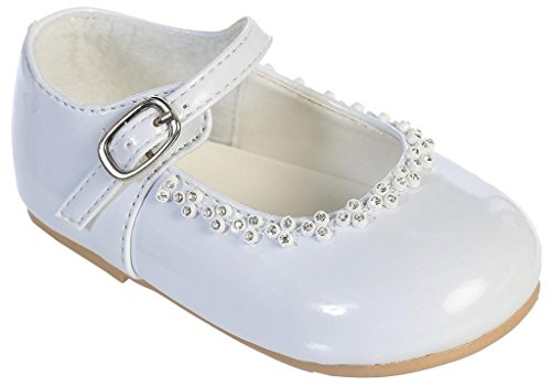 iGirlDress Patent Leather Party Shoes White Infant Size 3 - Patent Baby Shoes