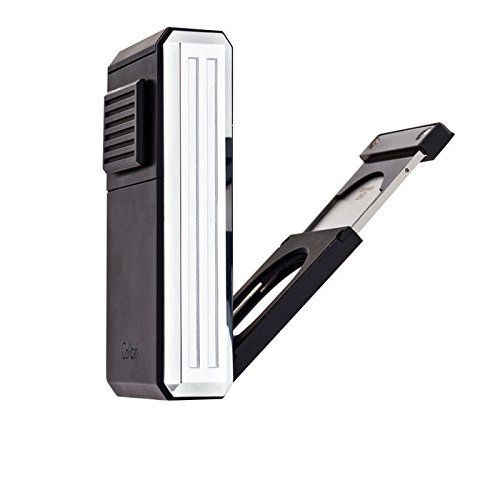 Out Cigar Punch (Colibri Astroria Triple-Jet Cigar Lighter with Fold Out Cigar Cutter by)