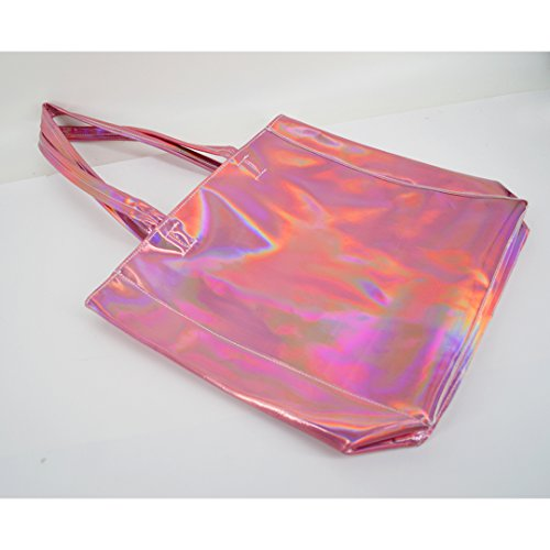 Handle Fashion Pink Shoulder Holographic Tote Women Haute Top La Pu Bags Large xRn1vPTw
