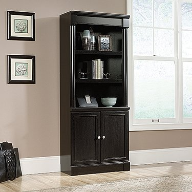 Sauder 416515 Bookcases, Furniture Palladia Library with Doors (Tall Bookcase With Doors)
