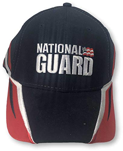 Checkered Flag Dale Earnhardt Jr National Guard Adjustable Hat Navy ()