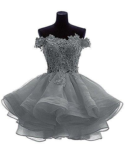 Vickyben - Vestido - para mujer gris