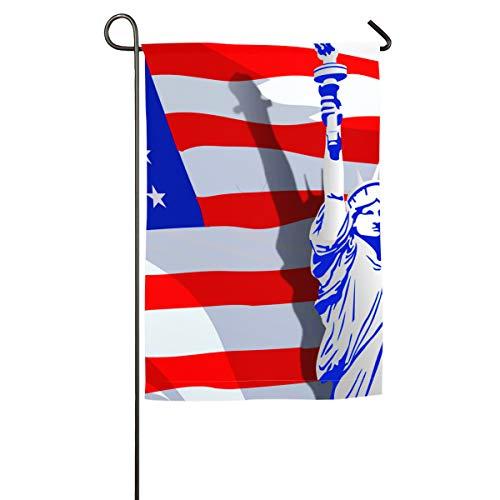 (HenSLK Statue of Liberty USA Flag Vertical House Flag,Garden Flag,Home Flag,Indoor Flag Yard Indoor & Outdoor Decoration 12x18inch & 18x27inch)