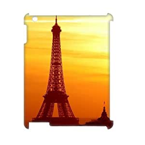 3D IPad 2,3,4 Cases Eiffel Tower Bathed In The Morning Sun For Teen Girls Protective, Case For Ipad 2 3 4 5 For Teen Girls Protective [White] by ruishername