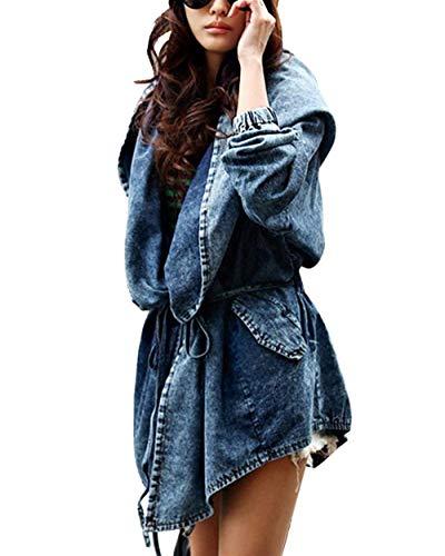 Donna Cappuccio Lunga Irregolare Manica Fashion Primaverile Cappotto Giovane Laterali Monocromo Parka Autunno Mantello Jacket Grazioso Schwarz Di Con Giacca Confortevole Jeans Tasche Moda 5xpY4wqn