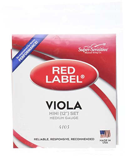 Supersens 14103 Red Label Viola String Sets of A, D, G, C String, 12-Inch Mini Size from Supersens