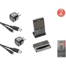(2x Pack) BlackBerry Charging Pod With Charger For Bold Touch 9900 / 9930 Retail Packing