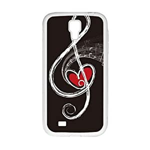 music notes personalized creative clear protective cell phone case for Samsung Galaxy S4