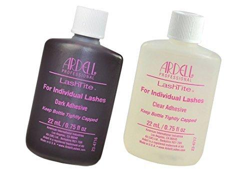(Ardell Lashtite Eyelash Adhesive DARK & CLEAR Glue Individual Lashes Individual Eyelash Adhesive Specially Formulated For Use With Duralash - Each Size 0.75 fl oz / 22ml)