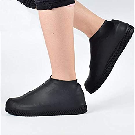 1 par de Zapatos de Silicona Reutilizables S/M/L Cubiertas Impermeables para Zapatos de Lluvia Acampar al Aire Libre Botas de Goma Antideslizantes para Botas de Lluvia - b4, M