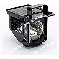Replacement projector lamp for Mitsubishi 915B441001, 915P106A10