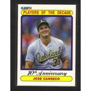 Amazoncom 1990 Fleer Jose Canseco Player Of The Decade Baseball