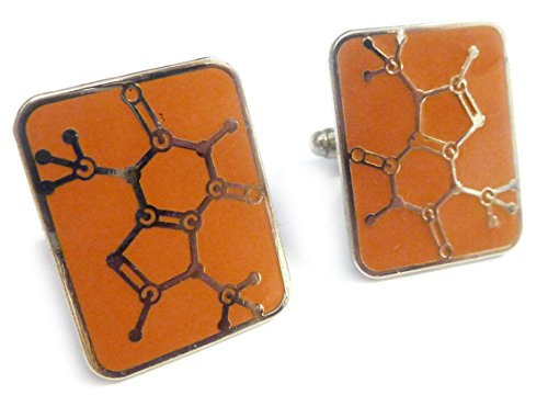 CHOCOLATE MOLECULE Chemistry Science Candy Bar Cufflinks Cuff Links Set