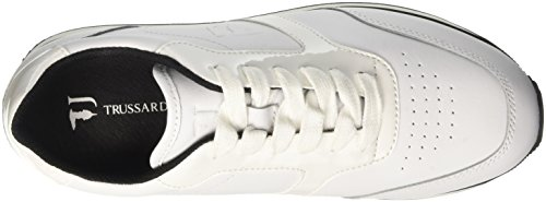 Bianco Jeans Collo Donna a Sneaker 79s044xx53 Trussardi Basso fBwqO0Ox