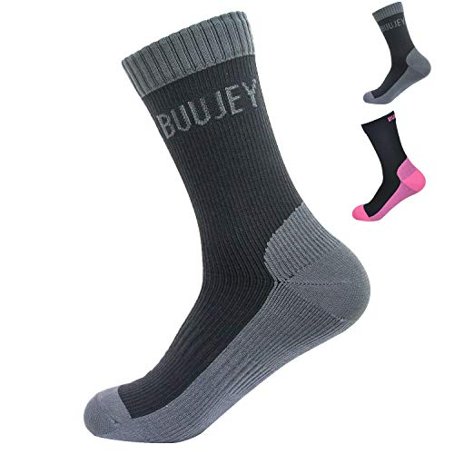 Waterproof Merino Wool Socks BUUJEY for Men & Women Trekking/Hiking/Skiing/Outdoor Sports Socks
