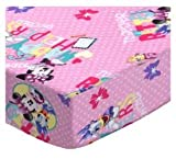 #6: SheetWorld Fitted Pack N Play Sheet Fits Graco Square Playard 36 x 36 - Minnie & Daffy - Made in USA