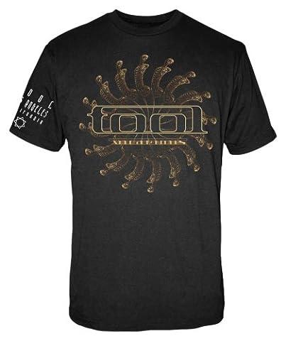 FEA Men's Tool Spectre Spiral Vicarious Men's T-Shirt,Black,Medium