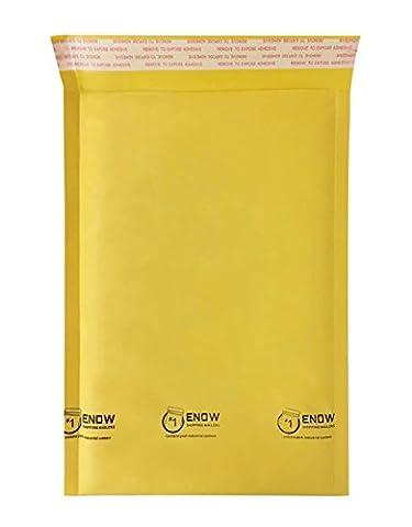 Enow #1 Kraft Bubble Mailers 7.25 x 12 Inch Padded Envelopes (200 pcs) - 3 Kraft Bubble