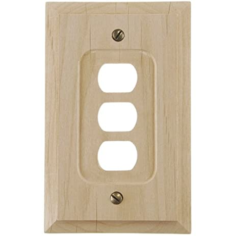 amerelle 180xxx traditional solid wood wall plate unfinished