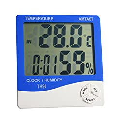 AMTAST Digital Thermometer Hygrometer Gauge Humidity Test Meter Temperature Monitor, Light Weight Portable