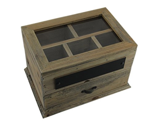 Contrast, Inc. Vintage-Inspired Wooden Organizer Box
