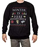 Game of Thrones Unisex Holiday Crew Neck Sweater (Winter is Here, Large)