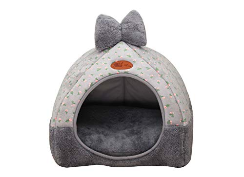 (ATUSY PET Cartoon Dog Bed House Winter Warm Cat Bed Detachable Wash Chihuahua Small Dog House)