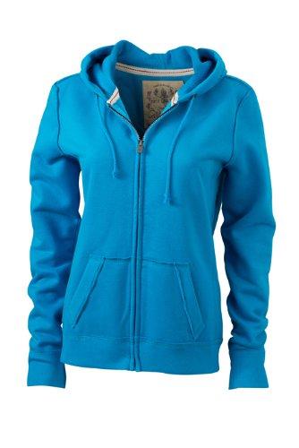 James & Nicholson Kapuzenjacke Ladies' Vintage Hooded Sweatshirt, Felpa Donna James+Nicholson