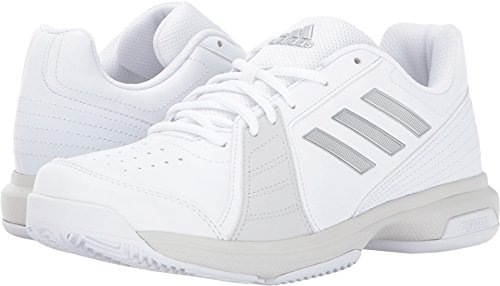 Court Womens Tennis Shoes (adidas Women's Shoes | Aspire Tennis, White/Metallic Silver/Grey One, (7 M US))