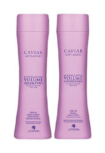 ALTERNA CAVIAR BODYBUILDING SHAMPOO + CONDITIONER DUO SET, 8.5oz EACH by ALTERNA (Shampoo Volume Caviar Alterna)