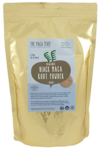 Certified Organic Black Maca Root Powder - Fresh Harvest From Peru, Fair Trade, Gmo-free, Gluten Free, Vegan and Raw, 2.2 Lb - 111 Servings